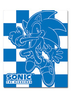 Sonic the Hedgehog: Sonic Blue and White Checkered Throw Blanket
