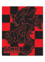 Sonic the Hedgehog: Shadow Red and Black Checkered Throw Blanket