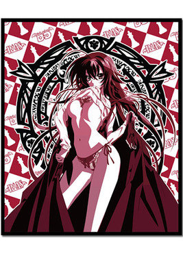 High School Dxd Rias Throw Blanket Circle Red