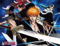 Bleach: Ichigo, Byakuya, and Renji Sublimation Throw Blanket