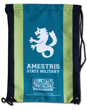 FullMetal Alchemist Brotherhood Amestris State Military Drawstring Bag