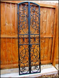 Bordeaux Wrought Iron Wine Cellar Double Door Gate - Many sizes to choose from