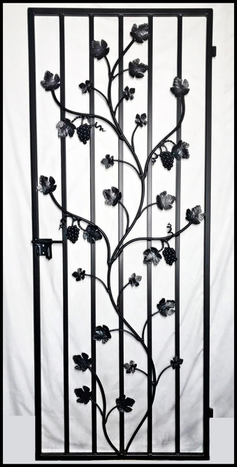 Charlotte Grapevine Iron Wine Cellar Door Gate