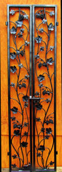 Artistic Double Grapevine & Leaf Iron Wine Cellar Door - Many Custom Sizes!