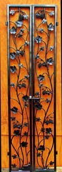 Artistic Double Grapevine & Leaf Iron Wine Cellar Door - Many Custom Sizes!