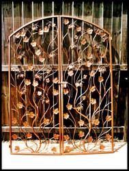 "Artistic Grapevine Wrought Iron Double Wine Cellar Door. 60"" X 80"""