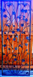"Artistic Grapevine Iron Wine Cellar Door or Gate 30"" X 80"""