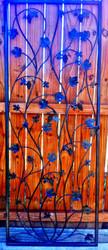 "Artistic Grapevine Iron Wine Cellar Door or Gate 30"" X 80"""