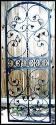 Scrolled Leaf Iron Wine Cellar Door