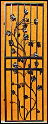 "Charlotte Grapevine Iron Wine Cellar Door - Tall  (94"" for 8 foot doorways)"