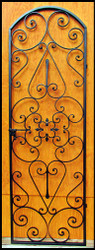 "Forged Scroll Iron Wine Cellar Door or Gate Tall (94"" for 8 foot doorways)"