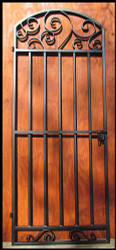Wrought Iron Whimsical Wine Cellar Door or Gate - 80 to 96 inches tall