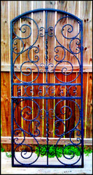 "Scalloped Scroll Iron Wine Cellar Door or Gate 36"" X 80"""