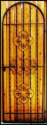 Rosette Iron Wine Cellar Gate