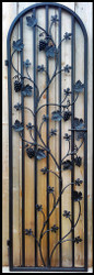 The Charlotte Grapevine Iron Wine Cellar door - 24 by 80 inches