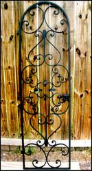 "Forged Scroll Iron Wine Cellar Door 28"" by 80"""
