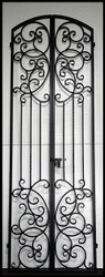 Bordeaux Tall Wrought Iron Wine Cellar Double Door Entry Gate - 36 by 96