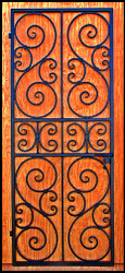"Square top Scalloped Scroll Iron Wine Cellar Door or Gate 36"" X 80"", Round Top or Eyebrow Arch Top too"