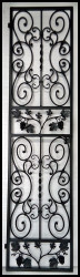 Falcon Crest Grape Iron Wine Cellar Door or Gate - Several sizes