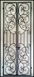 New - Haylee Bordeaux Double Iron Wine Cellar Gate - Custom Sizes