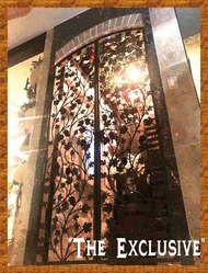The Exclusive Artistic Grapevine Double Iron Wine Cellar Door - 36 inches wide by 80 or  96 inches tall