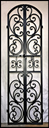 "NEW! Tuscany Double Iron Wine Cellar Door - 24"" wide by 80"" tall"