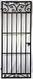 Scroll Top Iron Wine Cellar Door - 80 inches tall