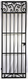 Scroll Top Iron Wine Cellar Door - 96 inches tall