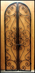 Free Shipping - Forged Scroll Iron Wine Cellar Double Door