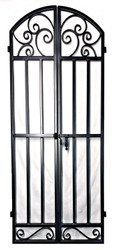 Whimsical Iron Wine Cellar Double Door 80 inches tall
