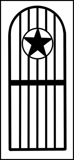 Texas Star Iron Wine Cellar Door.