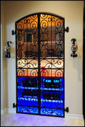 Ready to Ship - Tall Falcon Crest Double Iron Wine Cellar Gate