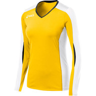 Asics Women's (BT1730) Roll Shot Jersey Gold/White 0401