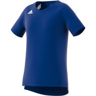 Adidas Womens (YOUTH) Volleyball Jersey Hi-Lo Cap Sleeve  DP4329 COLLEGIATE ROYAL/WHITE