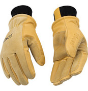 Kinco 901 Mens Lined Winter Premium Grain & Suede Pigskin Heetkeep Ski Gloves