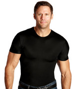 InstaSlim Men's Crew Neck Slimming T-Shirt - Black