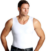 InstaSlim Men's Muscle Tank - White
