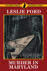 Murder in Maryland, by Zenith Brown (writing as Leslie Ford) (Paperback)