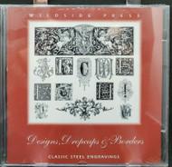 Designs, Dropcaps & Borders - hi-res steel engravings - graphic designer CD-ROM