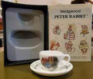 Wedgwood PETER RABBIT / Beatrix Potter / Miniature Cup & Saucer RARE 1983