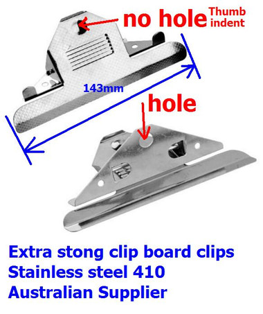 Board Clips 143mm Old Style Clipboard Clips - box 10