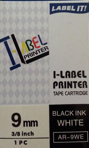 Labeler tape Casio . 9mm BLACK on White 8 metre Casio XR9WE + FREE SHIPPING (AR9WE)