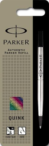 This is a pack is for 1 refill and includes free standard post to your home, office, school etc The refill is a roller ball point refill and the ink is black ue with a medium tip Refilling your rollerball pen has never been easier with Parker. Available in three colors, rollerball refill ink gives your writing a sharp smooth style.