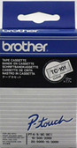 Brother TC101 TC-101  Label Printer Tape 12mm Black on Clear P-Touch Original ** FREE SHIPPING