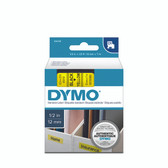 45018 D1 DYMO COMPATIBLE TAPE (BLACK ON YELLOW) Black on Yellow 12mm x 7m 1/2'' x 23' Material : High quality plastic Compatible with these DYMO label printers : Dymo 2000, 3500, 4500 | Dymo Pocket | LabelManager 100, 120P, 150, 160, 200, 210D 220P, 260D, 280, 300, 350, 360D, 400, 420P, 450, 450D, 500TS, PC II, PnP, PnP Wireless | LabelPoint 100, 150, 200, 250, 300, 350 | LabelWriter 450 Duo, Duo | RhinoPRO 1000, 3000, 4200, 5000, 5200, 6000, 6500