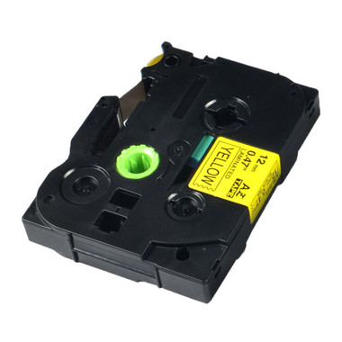 Brother TZe631 Tz631 tz-631 tze631 Label Printer Tape 12mm Black on Yellow P-Touch compatible ** FREE SHIPPING (TZe-631)