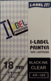 Label Printer Tape Casio 18mm Black ink on Clear tape AR18X + FREE SHIPPING