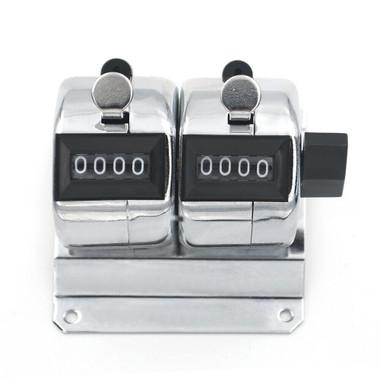 Tally Counter (D2) DeskTop 2 bank 4 digit chrome 2 bank is 63mm x 74mm