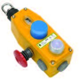 GLM Rope Switch - 2NC 2NO - M20 - Die-Cast w/E-Stop & LED