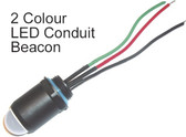 "Beacon - LED Red/Green - 24 VDC - 1/2"" NPT"